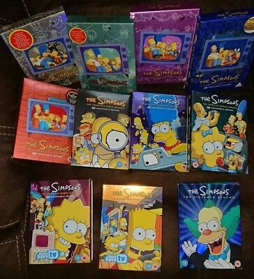 The Simpsons Series / Seasons 1, 2, 3, 4, 5, 6, 7, 8, 9,10, 11 and 12, Box Sets