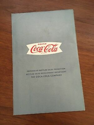 Coca Cola 1960s Owl A Tip On Time Booklet Paper Ephemera