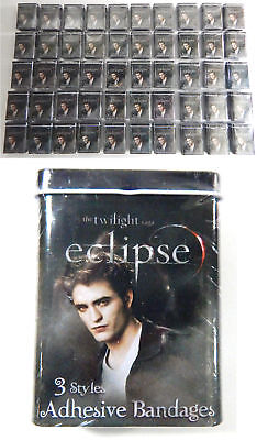 Lot of (50) The Twilight Eclipse Edward Cullen Bandages in Sealed Tins