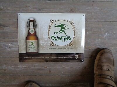 Quintine reclame metaal  sign new in blister the beer that bewitches you