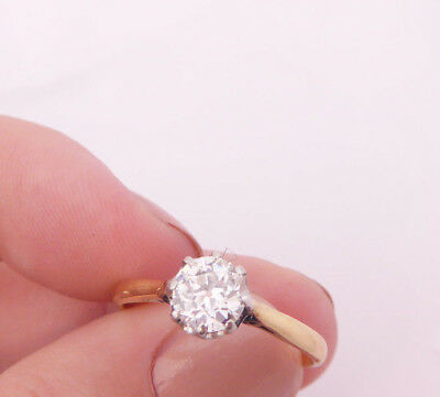 18ct/18k gold exceptional 3/4ct old mined cut Diamond solitaire ring, 750