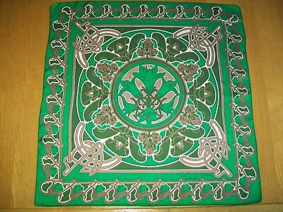 Richard Allan. Unusual & Vibrant Celtic Design Vintage Silk Scarf