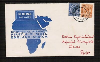 1931 Imperial Airways 1st Flight Cover Kenya to Cairo & return