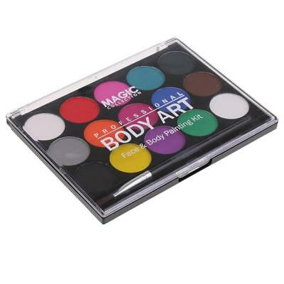 Washable Face Body Paint Party Make Up Kit 15 Assorted Color Oil Painting