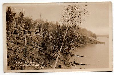 "Lac Du Flambeau Wisconsin 1924 ""sand Lake Resort""--Super Real Photo Card View~~"