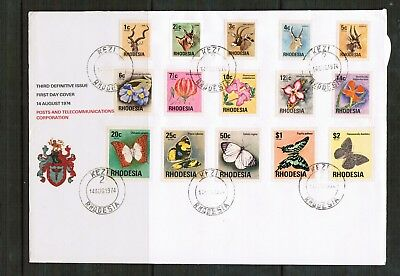 Rhodesia 1974 3rd Definitives on FDC