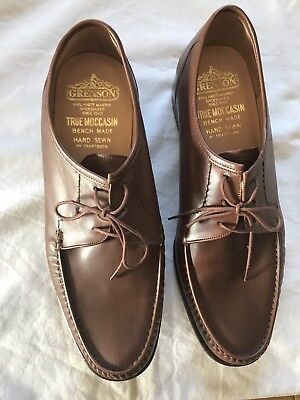 Men's GRENSON Tan Leather Moccasin Size 11