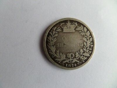 1874 Victoria One Shilling Coin (Die No 22!)