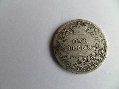 1878 Victoria One Shilling Coin (Die No 51)