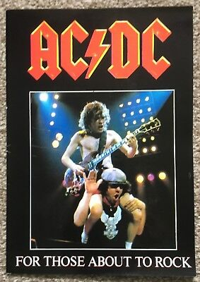 AC/DC For Those About To Rock Tour Programme 1982