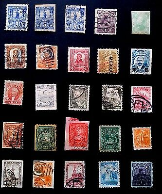 4 Page collection of Mexican Stamps removed from old albums - Mexico