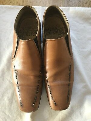 Men's Base Of London Tan Leather Shoe Size 10