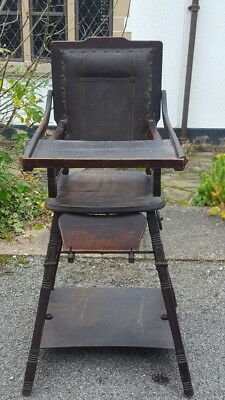 An Antique Early Victorian Childs Metamorphic Highchair for Prop/Display etc...