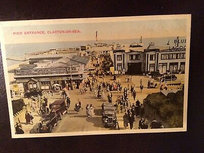 The pier Clacton-on-sea postcard old