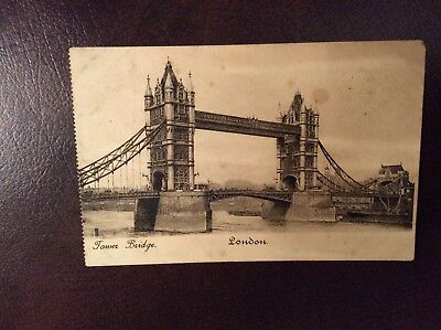 very old London  Tower Bridge  postcard great condition