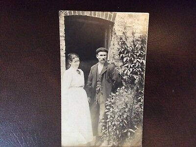 1912 couple very old postcard rp