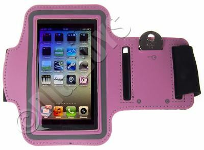 Pink A-Sports Adjustable ARMBAND for iPhone 5S/SE Gym Case Pouch Jogging Running
