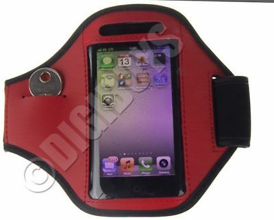 Red Adjustable ARMBAND for iPhone 5S/SE Gym Case Pouch Jogging Running UK