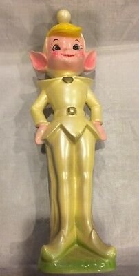 "Vintage 10"" Pixie Elf Figurine Ceramic Japan"