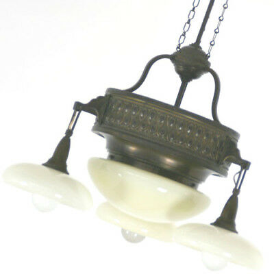 Art Deco Deckenlampe+Lampe+Kronleuchter+Jugendstil+Ceiling Lamp+Messing+Brass