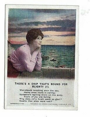 There's a ship that's bound for Blighty - My weekly -The Happy Home Postcard 4X3