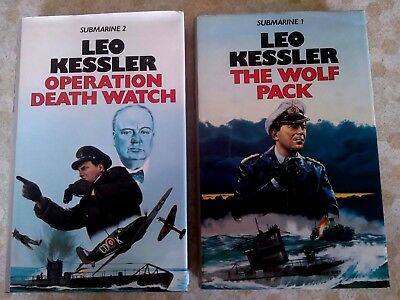 2 x Leo Kessler Hardback War Novels - Operation Death Watch & The Wolf Pack