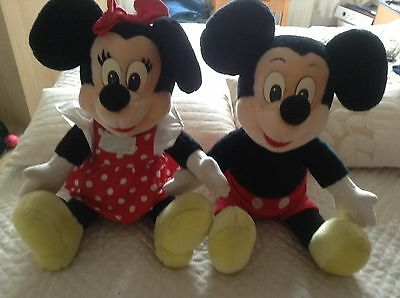 Mickey And Minnie Mouse Large Soft Disney Toys