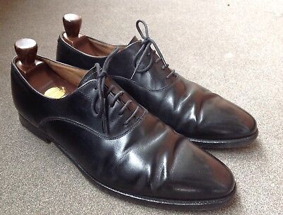 Crocket & Jones Wembley Black Derby Shoes Lace - Uk Size 8.5 E / Eu 42.5
