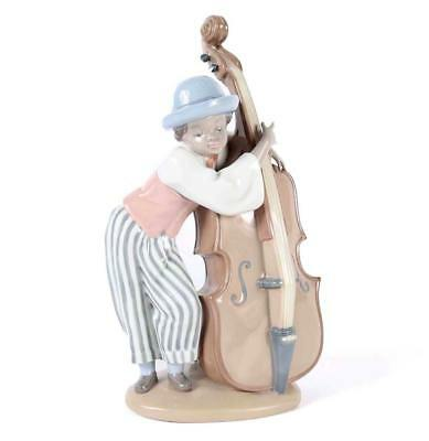 LLADRO #5834 Black Legacy Collection Jazz Bass Boy Porcelain NEW IN A BOX