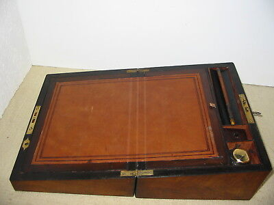 Lovely Walnut Writing Slope , Circa 1890