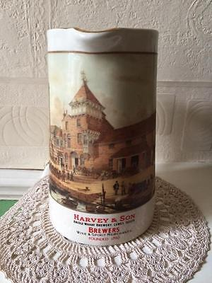 Vintage Goldprint Harvey & Son Sussex Brewery Pub Jug Made in England