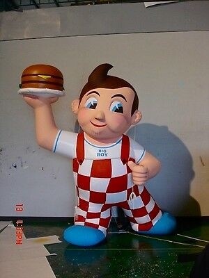 "11 Ft BOB'S BIG BOY ""Inflatable""  FIGURE  ""CUSTOM MADE""  (One Of A Kind ) LOOK !"