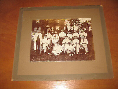 Leek Cricket Club Antique Original Photograph Victorian/edwardian Cabinet Pic Vg