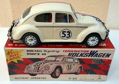 VW Käfer Rally HERBIE 53 Blechauto Taiyo Japan mit OVP - Walt Disney Beetle