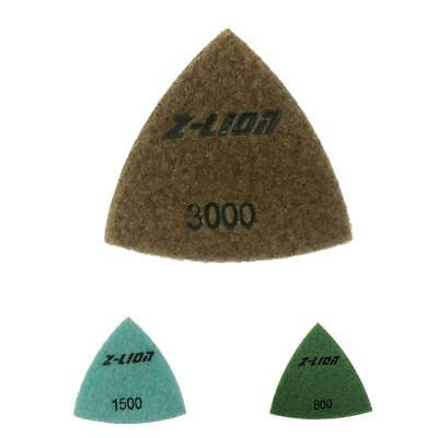 Triangular Diamond Polishing Pads For Granite Marble Concrete 80mm/ 93 mm