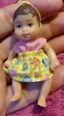 Vintage Dollhouse Miniature Baby Doll Babies POSEABLE