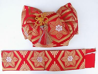 Japanese Ceremonial Obi with Bow