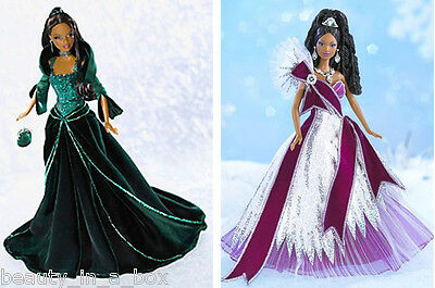 2004 2005 AA Holiday Barbie Doll ~ NO BOX ~ Deboxed African American Celebration