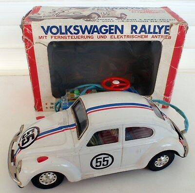 VW Käfer Rally #55 Blechauto BANDAI Japan mit OVP - Walt Disney Beetle Herbie