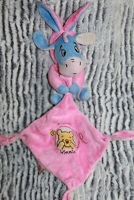 Doudou Disney Nicotoy Bourriquet Deguise En Lapin Mouchoir Rose Bleu Winnie