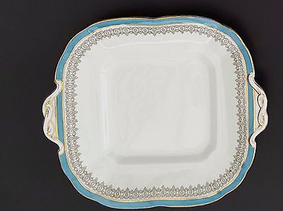 Vintage Cauldon ltd Brown Westhead Moore square bread and butter/cake  plate