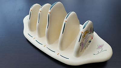 Vintage Honiton Pottery Handpainted Art Deco Toast Rack
