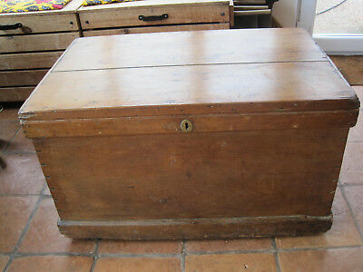 Antique Pine Chest/Trunk/Blanket Box Large