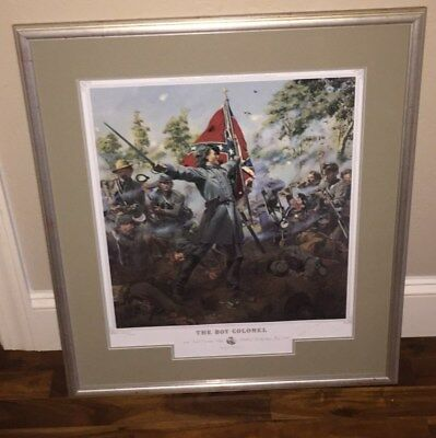 THE BOY COLONEL PRINT BY DON TROIANI 26th N.C. Signed & #  CONFEDERATE CIVIL WAR