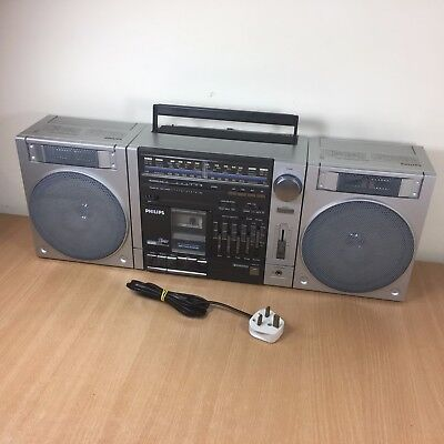 Vintage 1982 sharp gf 990g boombox ghetto blaster retro collectable - Philips ghetto blaster ...