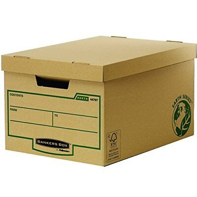 #10xFellowes BANKERS BOX EARTH Große Archiv-/Transportbox