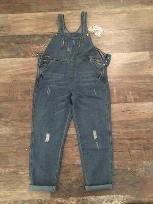 Ladies Denim Dungarees, Size 10-12. Brand New With Tags.