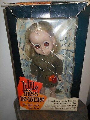 Vintage Hasbro 1965 Little Miss No Name complete with box rare doll mint big eye