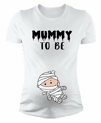 Mummy To Be Halloween Women's Funny Regular Maternity Short Sleeve Tech T-Shirts