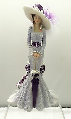 Enchanted at Churchill Down Lady Figurine Victorian Promenade Bradford Exchange